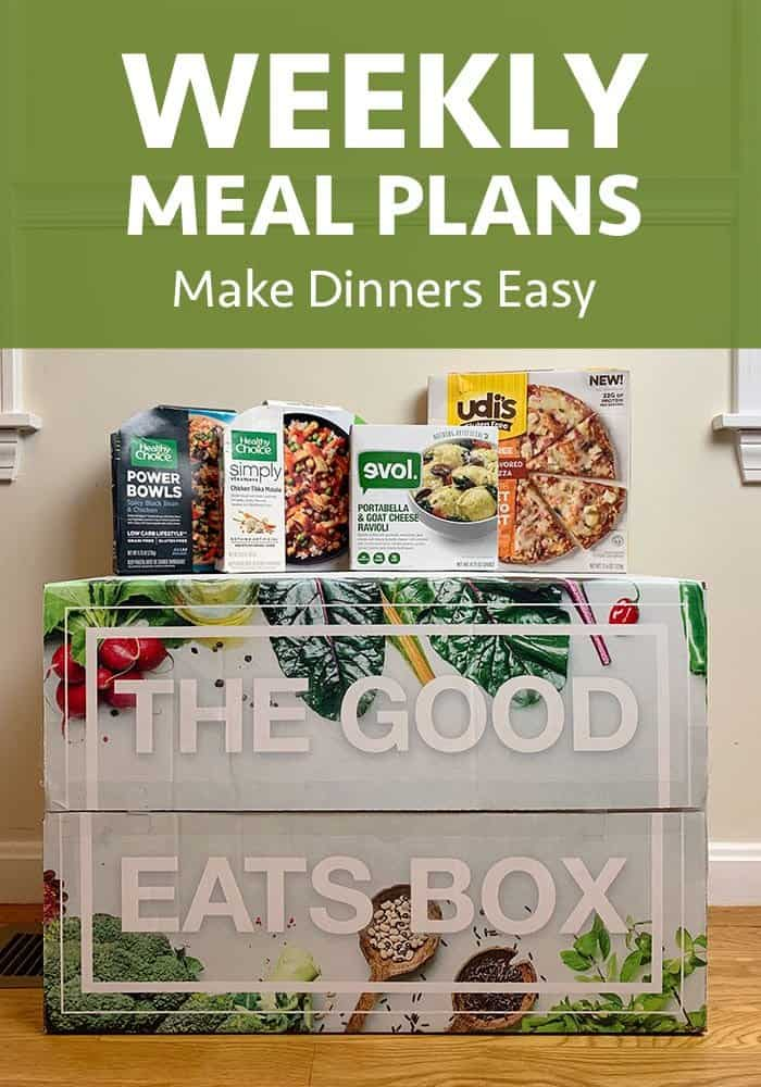 weekly meal plan for easy dinners