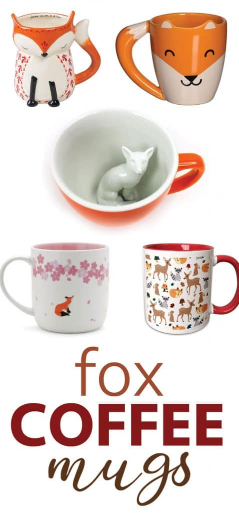 Cute fox coffee mugs