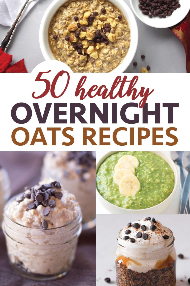 These easy healthy overnight oatmeal breakfast recipes will make you feel so good in the morning.