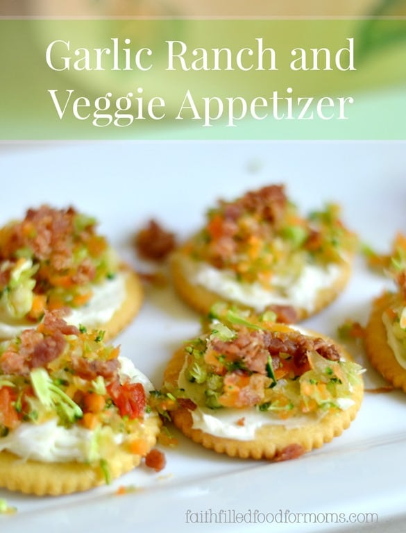 Garlic-Ranch-and-Veggie-Appetizer 50 Tasty Cold Thanksgiving Appetizers