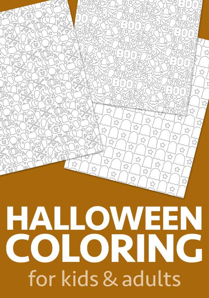 halloween coloring sheets for kids and adults