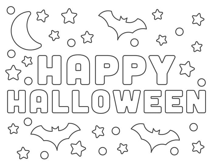 halloween coloring sheets happy halloween