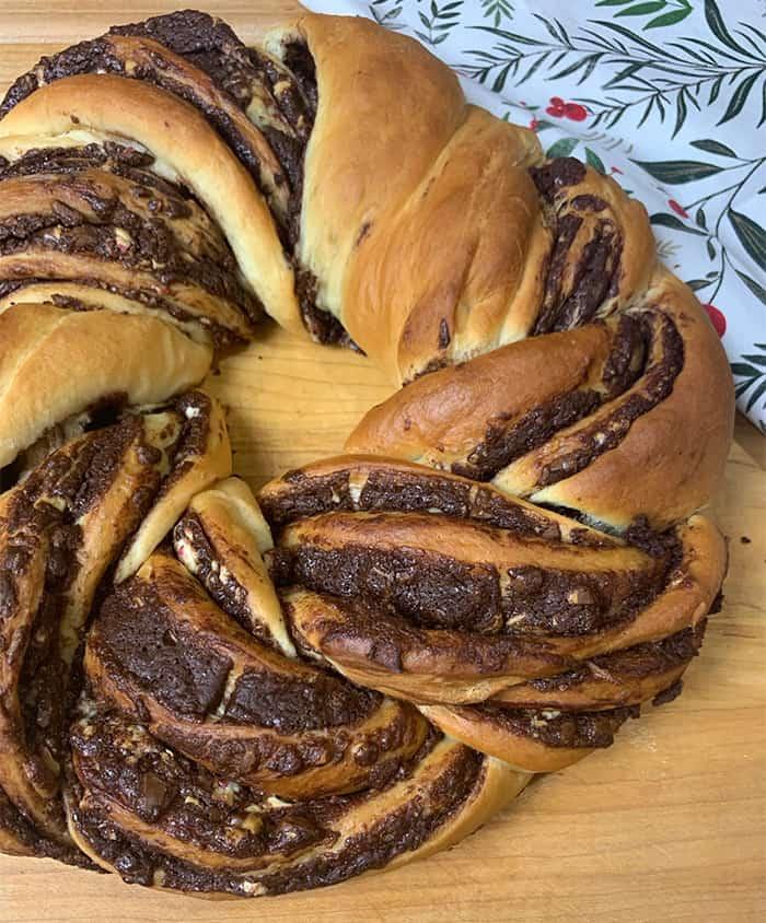 peppermint bark bread baked 2