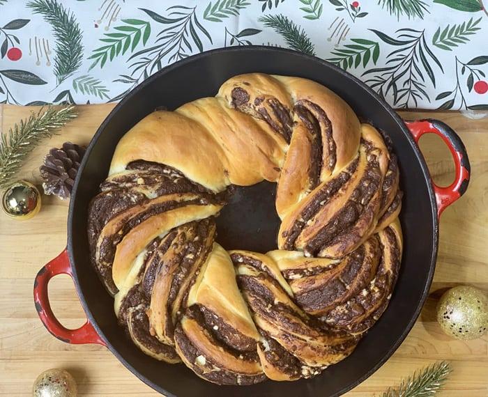peppermint bark bread baked