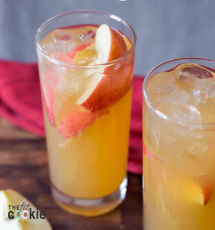 Ginger apple sparkling cider mocktail
