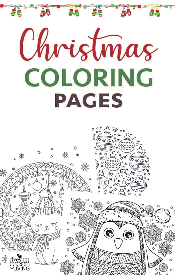 Christmas coloring pages for relaxation and self care