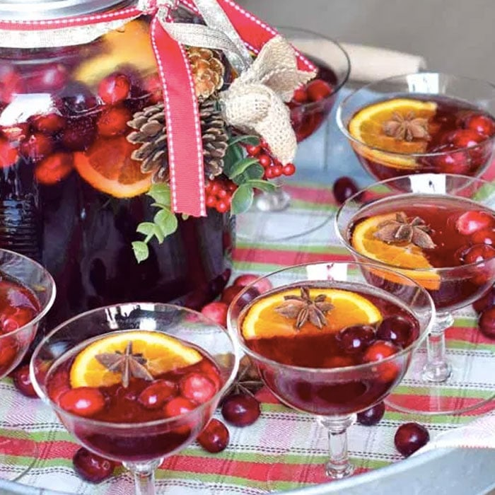 Mulled Cranberry Mocktail Punch Recipe