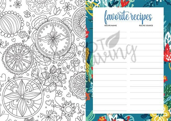healthy habits weekly planner with coloring pages