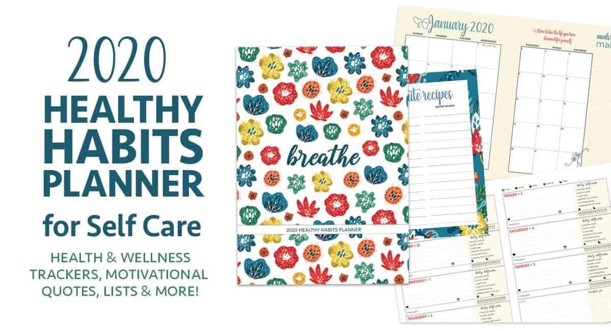 healthy habits planner calendar