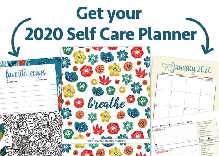 2020 self care planner