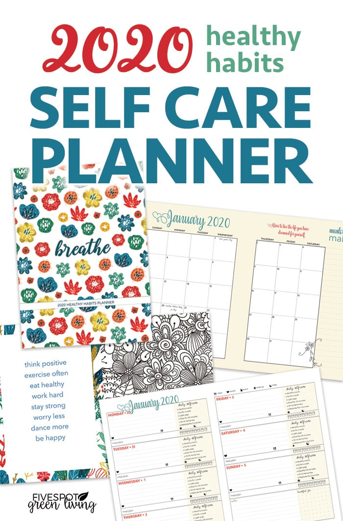2020 self care weekly planner