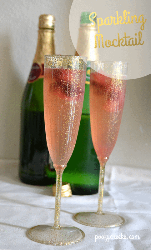 Simple Sparkling Raspberry Mocktail - Poofy Cheeks