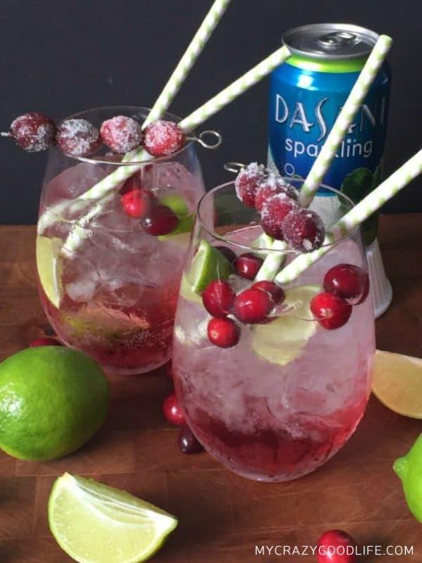 Sparkling Cranberry Lime Mocktail Recipe