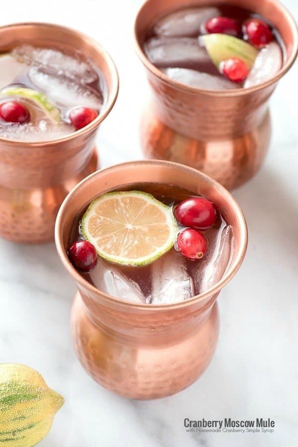 Cranberry-Moscow-Mule-with-Homemade-Cranberry-Simple-Syrup-BoulderLocavore.com- 20 Cranberry Spritzer Mocktails for Valentines Day
