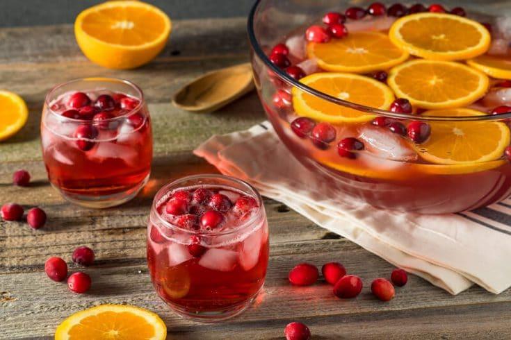 Sparkling Cranberry Orange Ginger Mocktail :