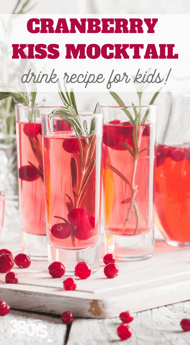 Cranberry Kiss Mocktail Recipe (non-alcoholic cocktail)