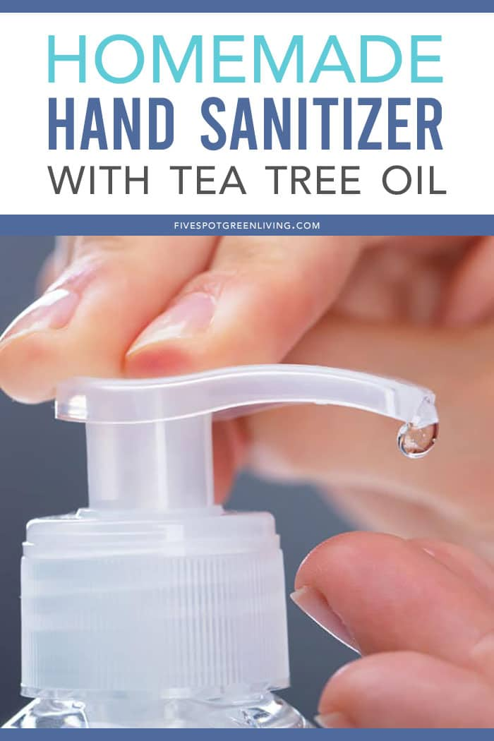 homemade hand sanitizer with tea tree oil