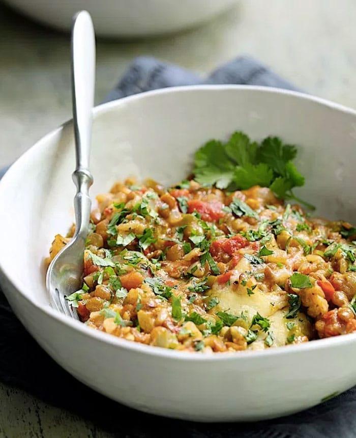southwestern lentil casserole