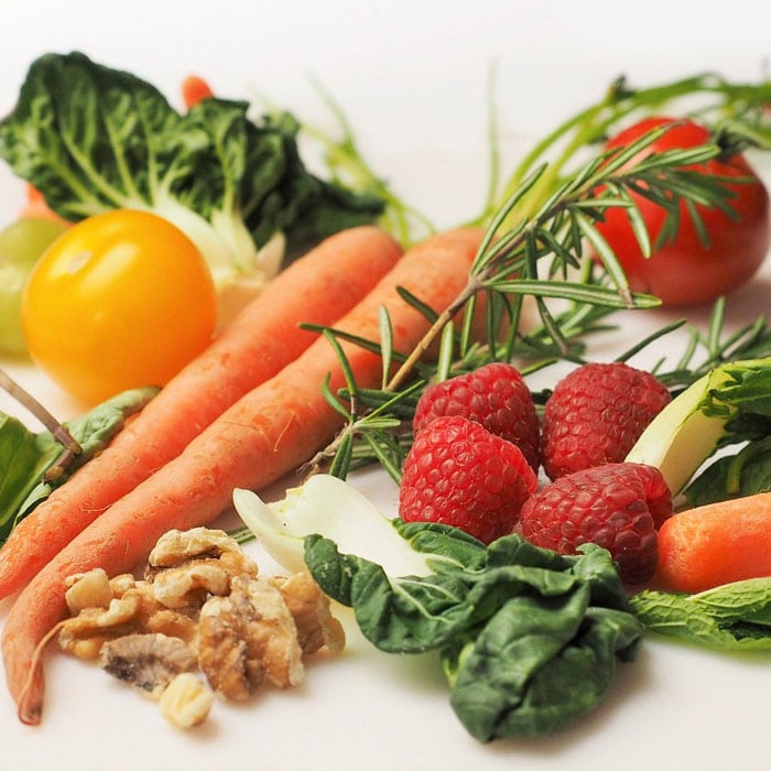 vegetables and fruit for brain health