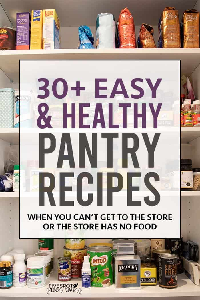easy healthy pantry meals