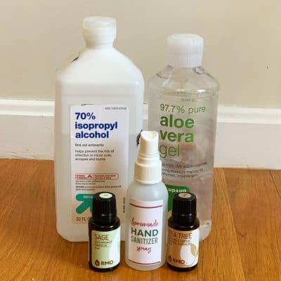 homemade hand sanitizer spray