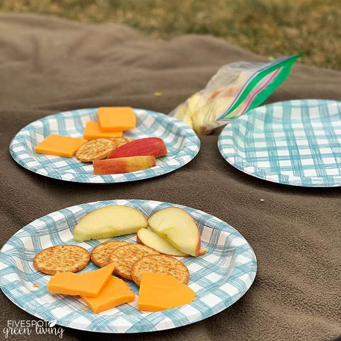 self care relaxing picnic outside on lawn
