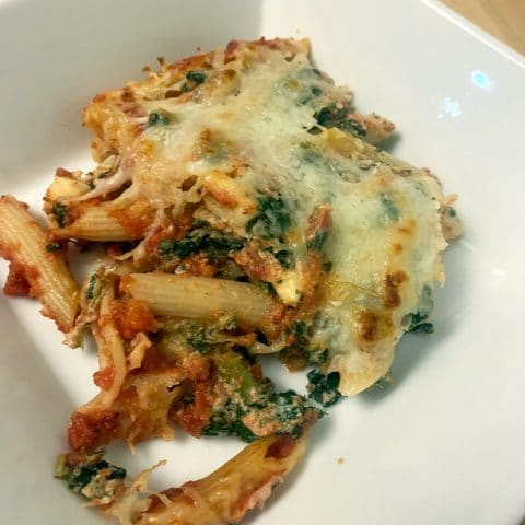 Easy Vegetarian Ziti Casserole Recipe