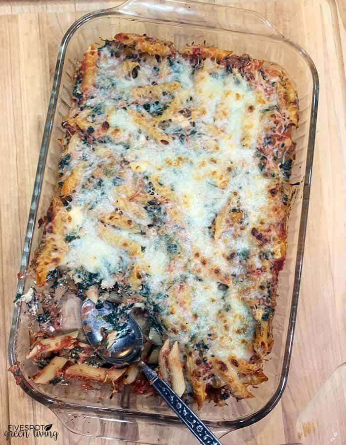 vegetarian ziti casserole