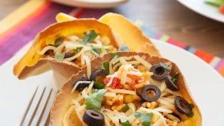 Black Bean & Rice Open-Faced Tacos