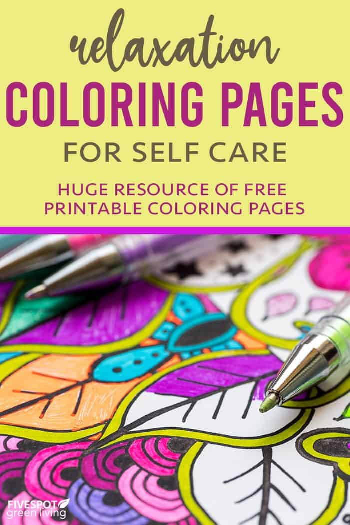Relaxation Coloring Pages for self care