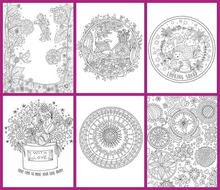 Relaxation Coloring Pages For Self Care Five Spot Green Living