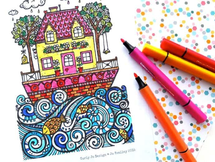 The Lucky Draw Project – Sail Away with Me Colouring Page