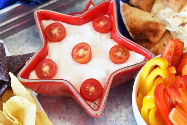 Patriotic Dip Appetizer Tray for Summer Entertaining
