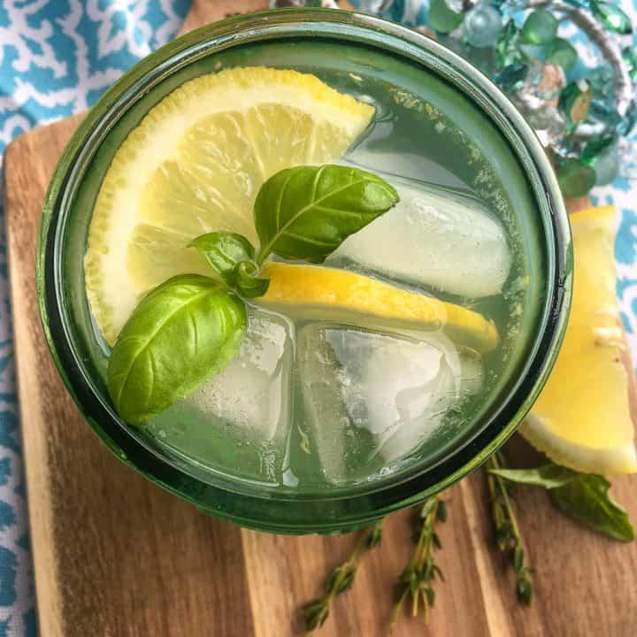 Lemon Herb Spritzer Mocktail