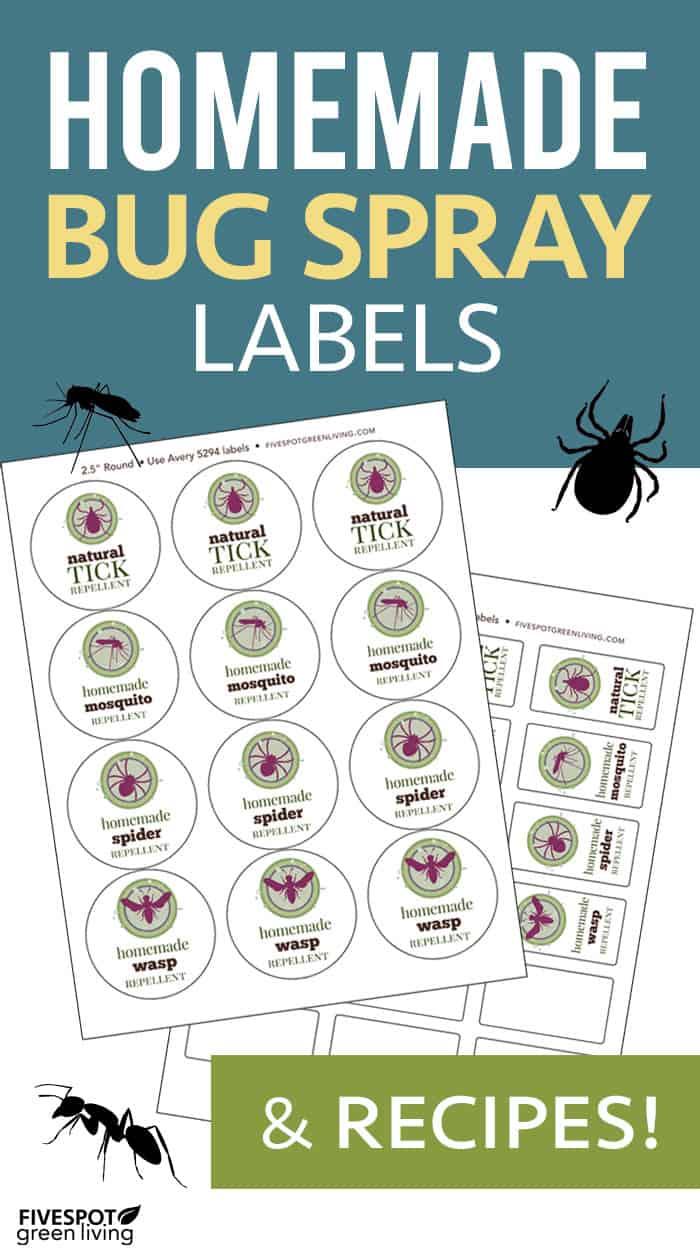 Homemade bug spray printable labels