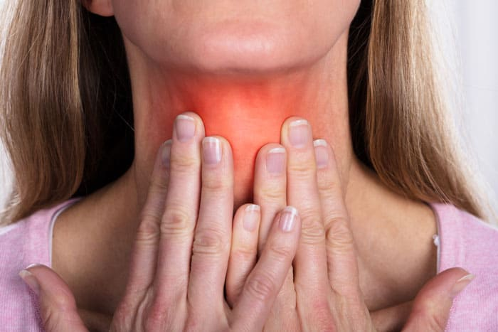 thyroid pain