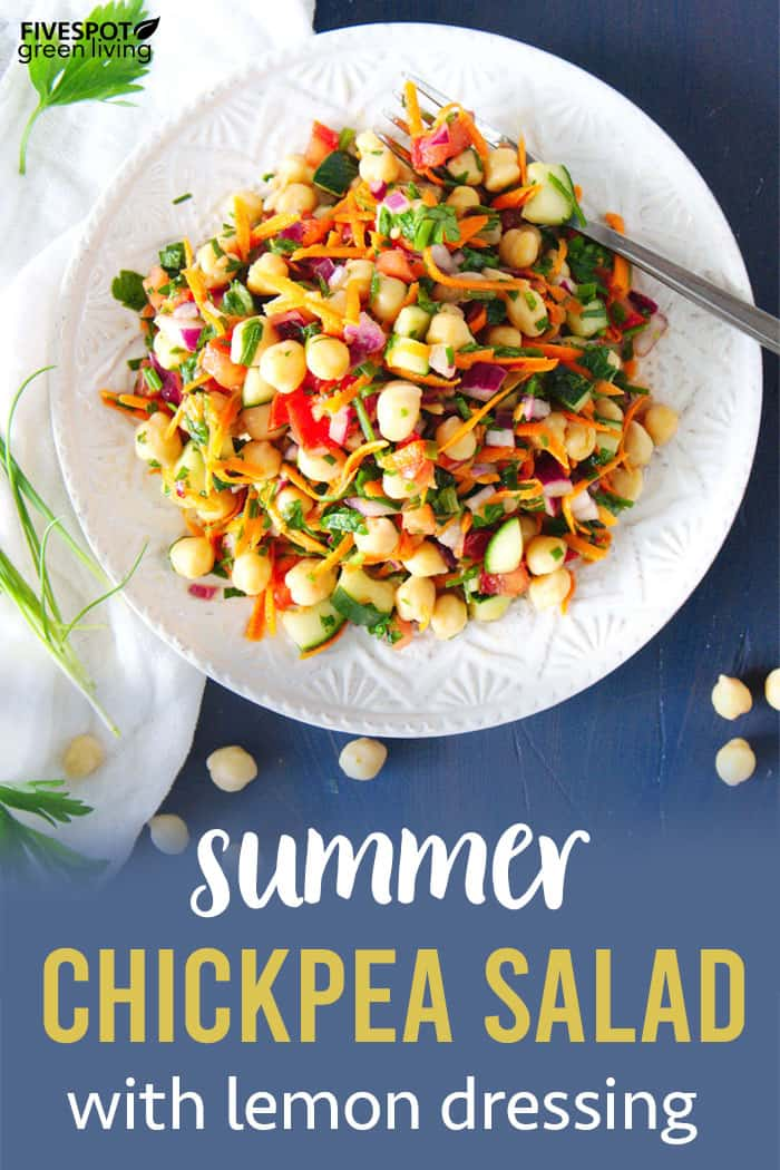 Summer Chickpea Salad Recipe with Lemon Dressing