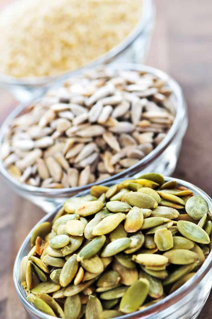 sunflower and pumpkin seeds for hormone health