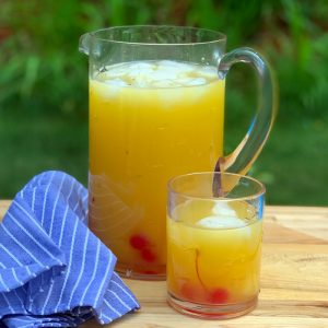 tropical mocktail with pineapple