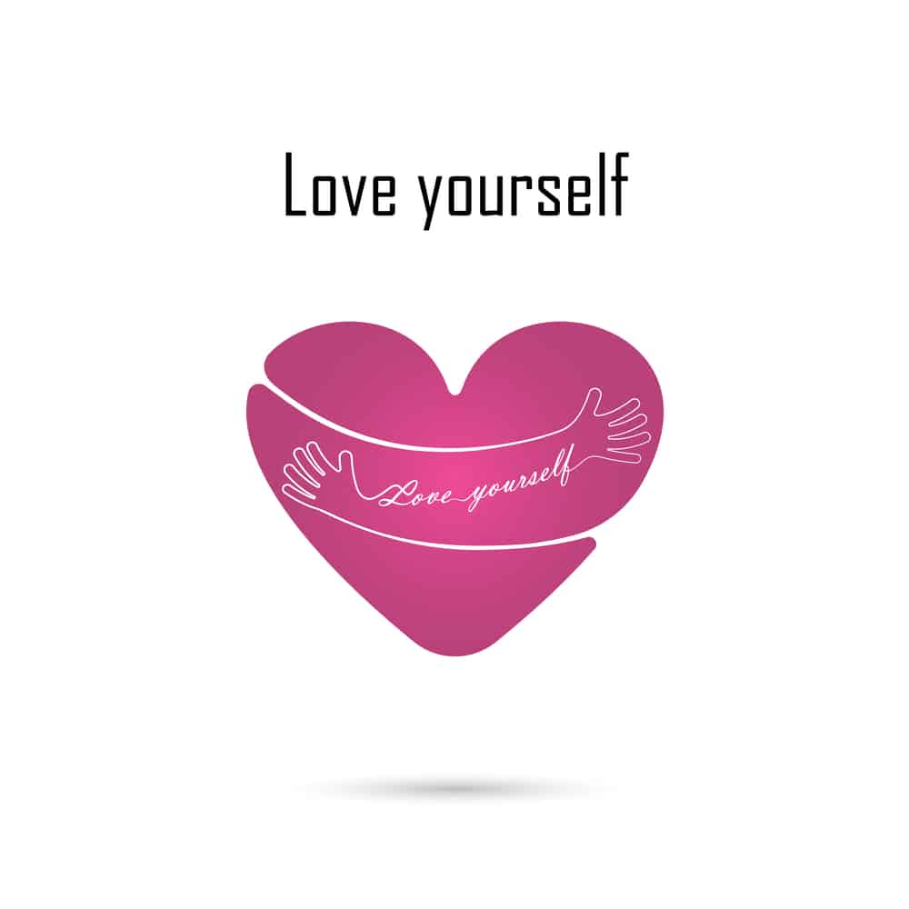 love yourself hug yourself