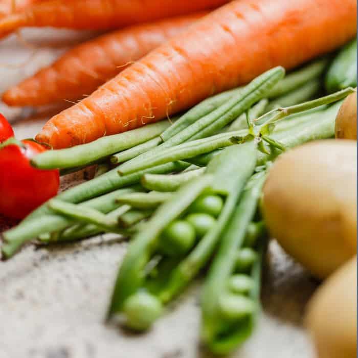 carrots peas and potatoes