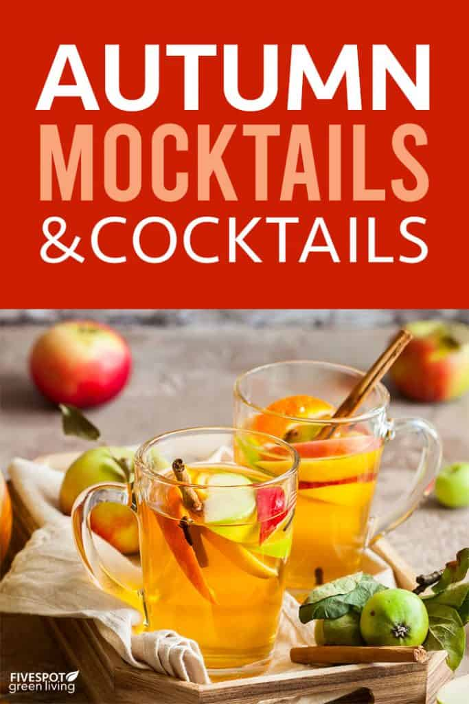 Autumn mocktails and cocktails