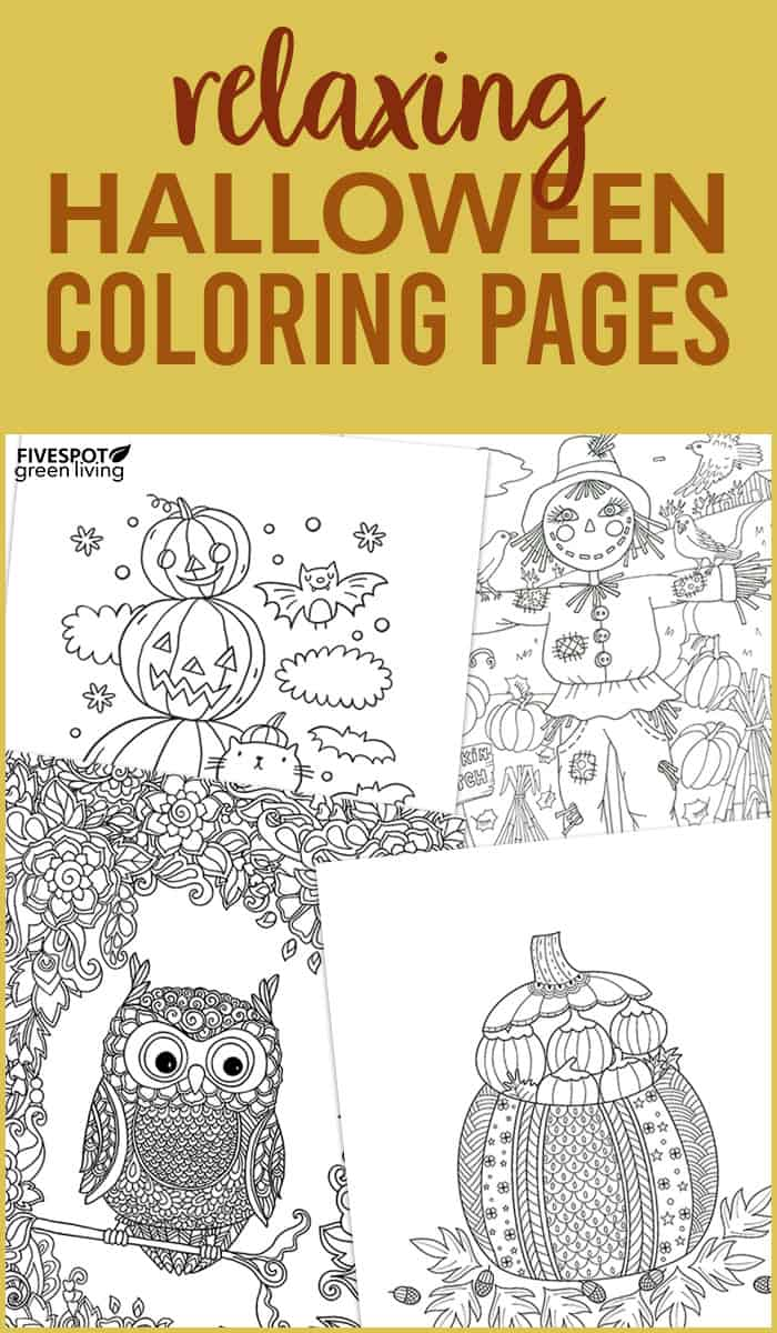 Relaxing Halloween Coloring Pages to download
