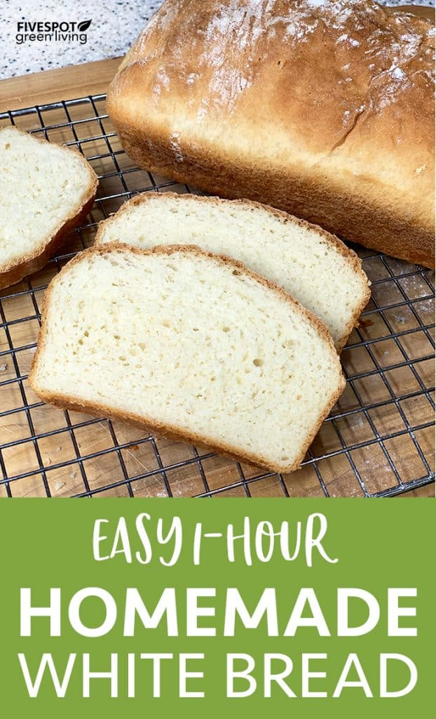 Easy healthy homemade white bread recipe