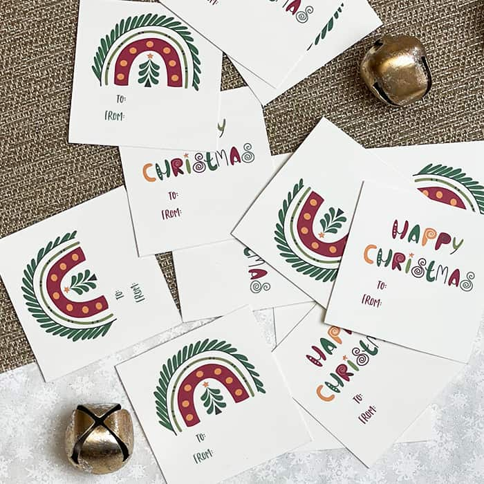 happy christmas gift tags