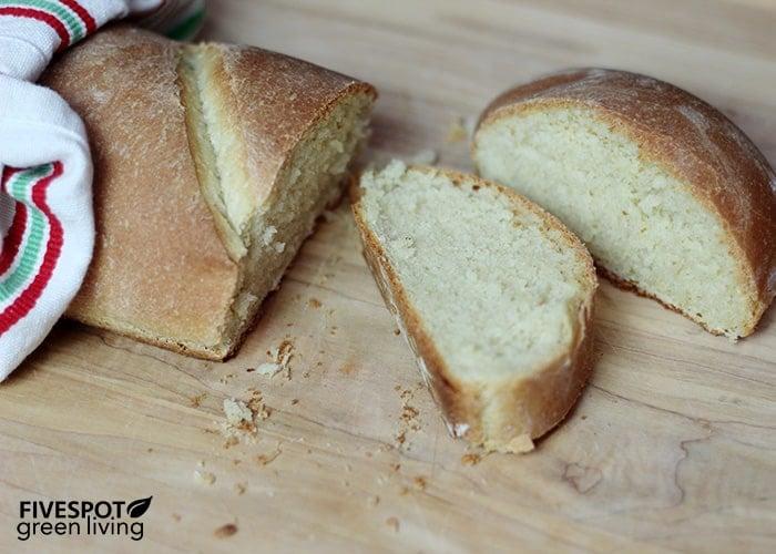 semolina bread dough loaf sliced