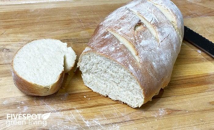 easy bread recipe sliced