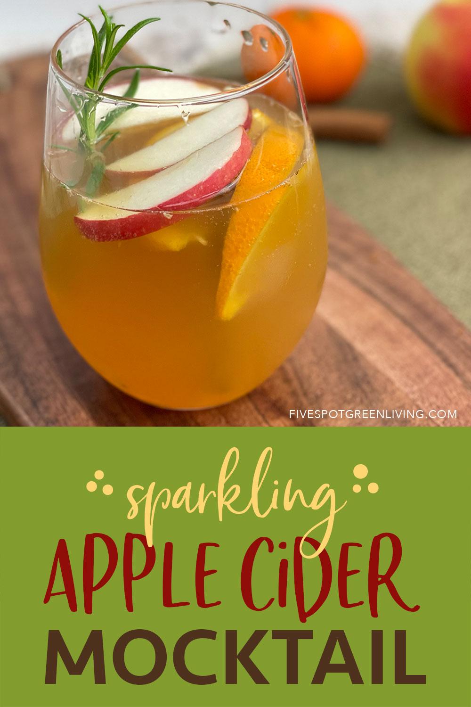 apple cider mocktail
